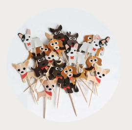 cupcake prikker schattige hondjes