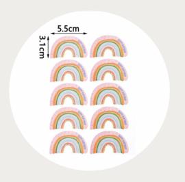 Regenboog stickervel