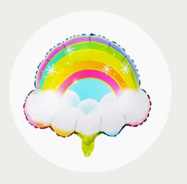 Regenboog folie ballon