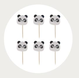 cupcake prikker Panda