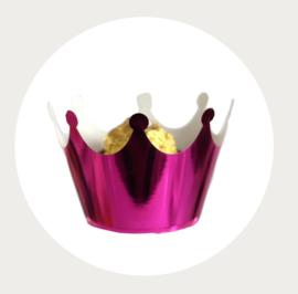 cupcake wikkel/wrapper kroon paars