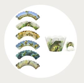 Dinosaurus cupcake wrappers