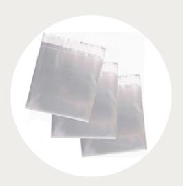 Transparant traktatiezakje 15x15