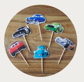 Cars cupcake prikkers