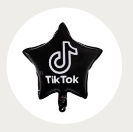TikTok folie ballon ster zwart