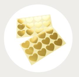 Sluitstickers hart goud