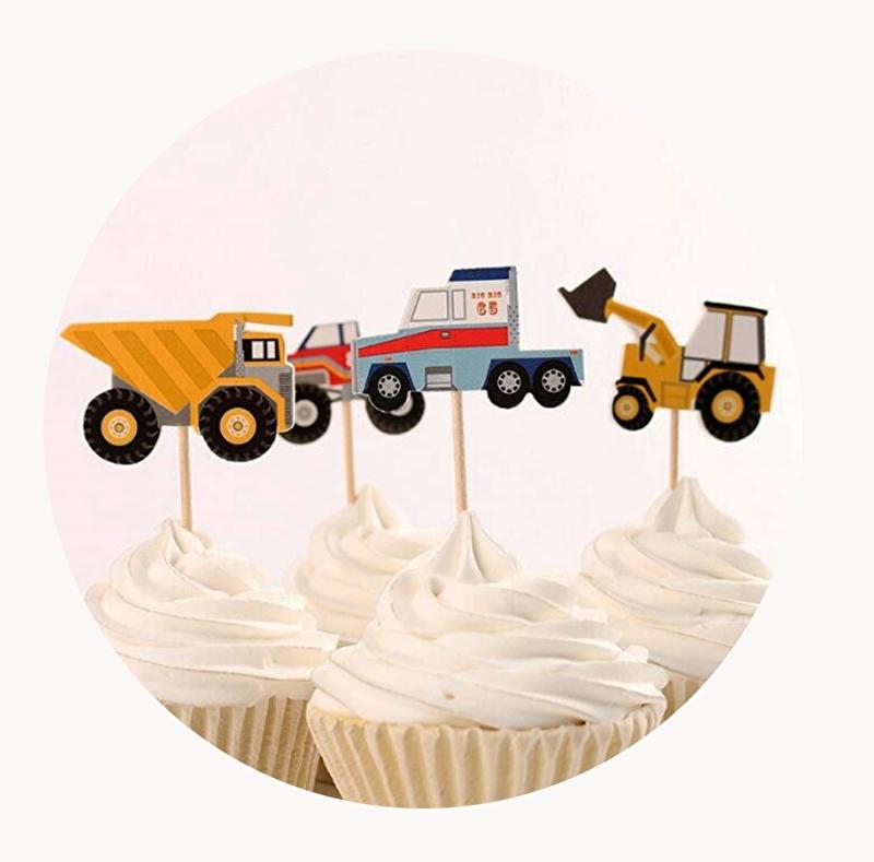 cupcake prikker stoere voertuigen
