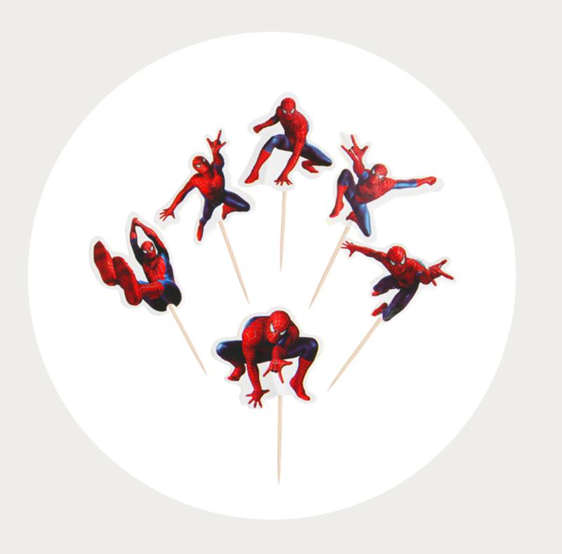 cupcake prikker Spiderman