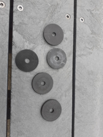 2x ABS carbon ring 40mm rond / 4mm hoog/gat m8/glijring voor diabolo /foilplate/ B-keuze met kleine 3D print foutjes