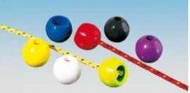 Gripkogel blauw voor trapezelijnensets of trimsysteem/25mm diameter/doorvoer 4mm