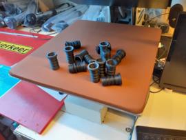 Mastdop 23,5mm diameter incl.2 x rubber ring (gemeten zonder rubber ring) door verschuiven van ring ca. naar 24mm te zetten/3D geprint in ABS/Carbon