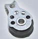 2x RVS /Mini pulley/geschikt tot 5mm lijn/17mm wiel