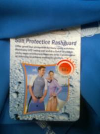 Vientosurf Lycra/ kleur licht blauw/korte mouwen/UPF 50 bescherm factor/zonder prints er op