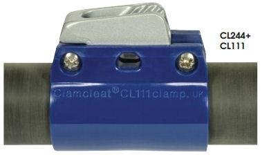 (2x) clamcleat voor uithaler/trimsysteem incl.schroeven,4x rubber pad en CL244R cleat