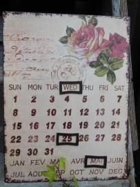kalender eeuwig durend Claire en Eef