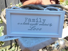 "hanger "" family is a little world created by love"""