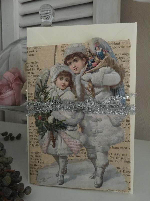 Dubbele kerstkaart