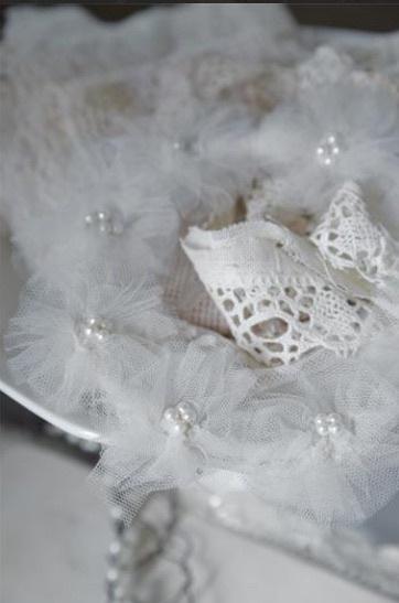 Kanten bruidskrans