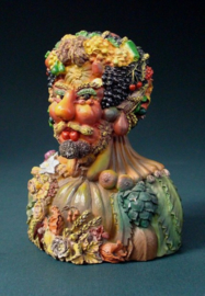 Keizer Rudolph II is geportretteerd als Vertumnus, de Romeinse god van de herfst.