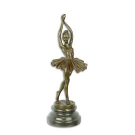 Bronzen beeld van ballet danseres