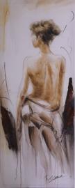 waterverf schilderij op doek