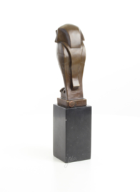 Brons art Deco beeld van een uil