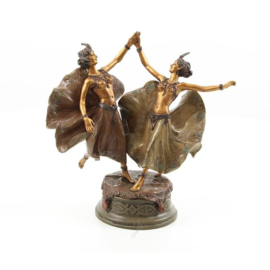 Dansende danseressen brons beeld