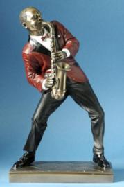 beeld de saxofoonspeler