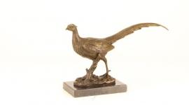 Bronzen beeld van een fazant