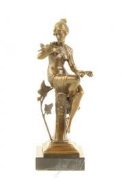 Gedetailleerd Bronzen elegante vrouw