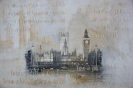 olieverf schilderij op doek met lijst