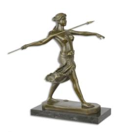 Bronzen beeld van een amazone strijder