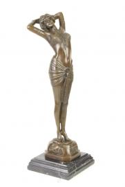 Bronzen beeld van Reveil genaamd