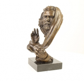 bronzen beeld moderne interpretatie van God .