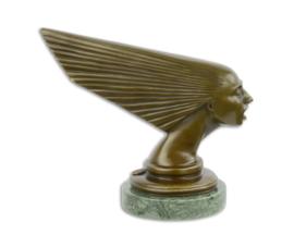 Een bronzen ART DECO CAR MASCOT GEEST VAN DE WIND