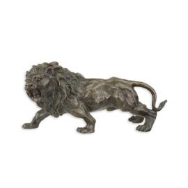Leuk bronzen beeldje van grommende leeuw