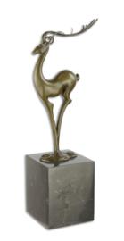 abstracte bronzen beeld van een antilope