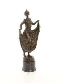 art deco bronzen beeld van een danseres