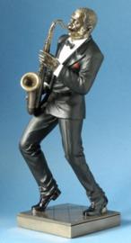 de Jazzsaxofoonspeler