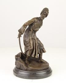 Fraaie bronzen beeld van kozak (COSSACK)