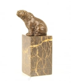 Bronzen zittende beer