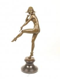 Bronzen beeld harlekijn