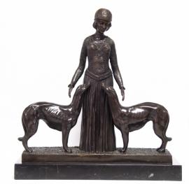 Bronzen  beeld eeuwige vrienden