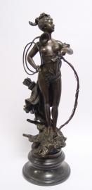 Bronzen beeld van Diana Romeinse godin