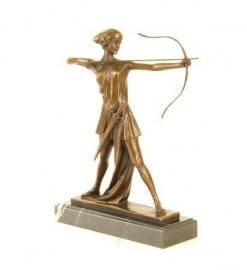 Bronzen beeld VAN DIANA DE HUNTRESS