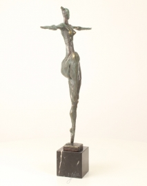 Bronzen  beeld naakte vrouw