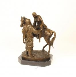 Bronzen beeld met Arabieren