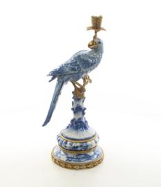 Delfts blauw bronzen kandelaar