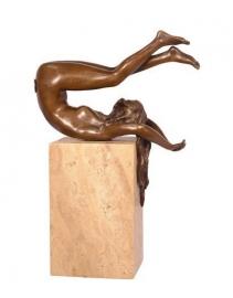 bronzen naakte vrouw