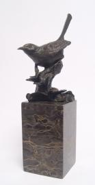 Kunststuk Bronzen beeld nachtegaal